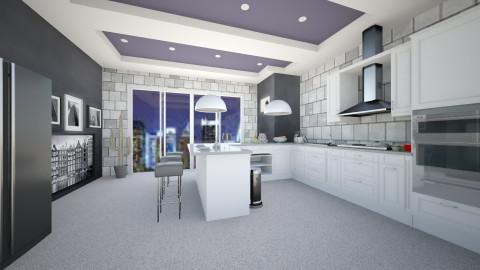 B_W Kitchen - Kitchen - by Michka Martina