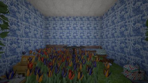 Picnic Inside Garden - Feminine - Garden - by PoppiCat