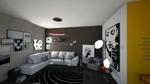 lvrm1 - Modern - Living room - by Georgina Theodorou