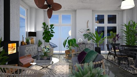 Urban jungle living  - Modern - Living room - by augustmoon