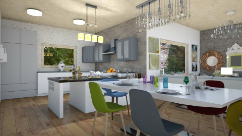 Via Bruno Bruni - Glamour - Kitchen - by PROGETIM