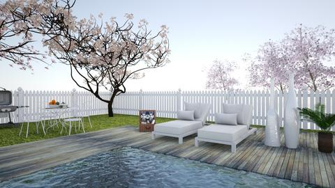 pink - Garden - by lyub