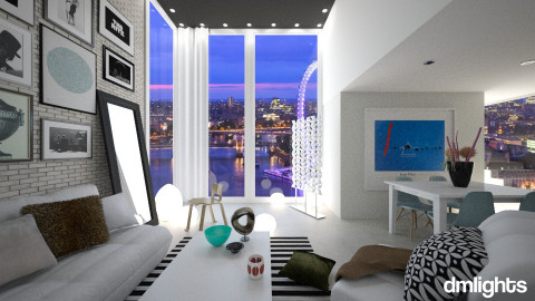 House In London - Living room - by DMLights-user-1042262