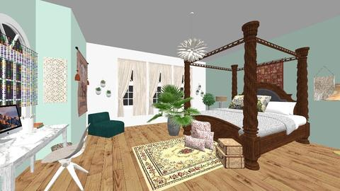 bohemian room - Rustic - Bedroom - by Devita Sinar Damayanti