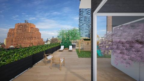 Roof Final - Garden - by derellams