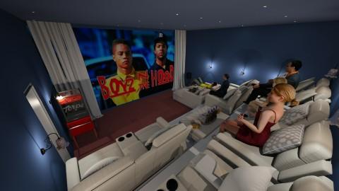Home Theater - Modern - by UloveTashi Designs