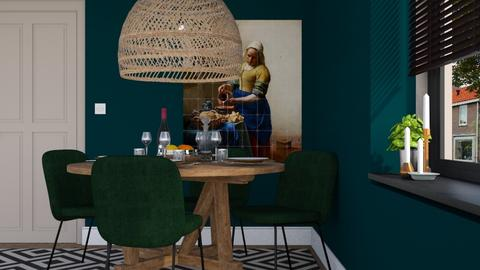 Green dining - Modern - Dining room - by HenkRetro1960
