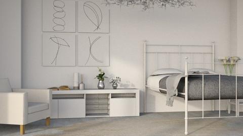 Monochrome - Minimal - Bedroom - by millerfam