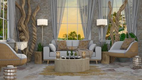 MODERN BOHEMIAN LIVING  - Living room - by KC Pechangco
