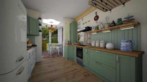 Paul_1B - Eclectic - Kitchen - by donella