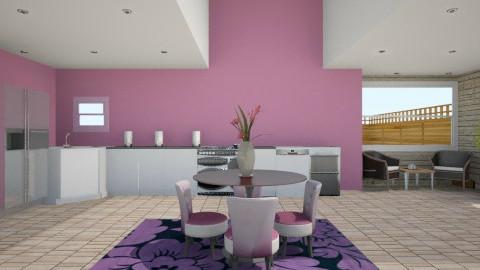 purple nurple kitchen - Classic - Kitchen - by tina45