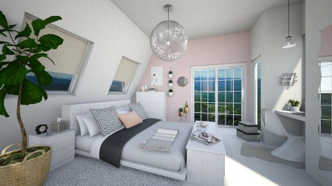 White master bedroom - by leenvandesande