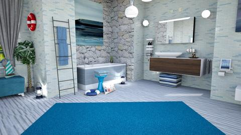 sea inspired - Modern - Bathroom - by zayneb_17