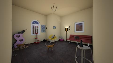 Cat Shelter room 1 - Living room - by Amelia Lineberger