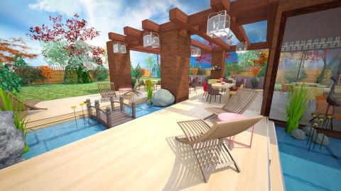 pavillion - Retro - Garden - by donella