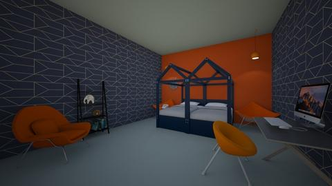 blue room  - Bedroom - by gracie myers