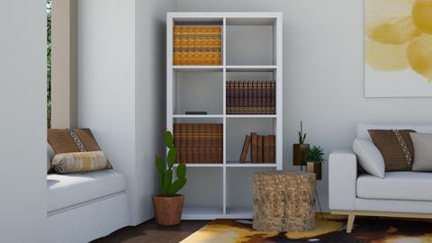 Western Book Nook - Rustic - Living room - by millerfam
