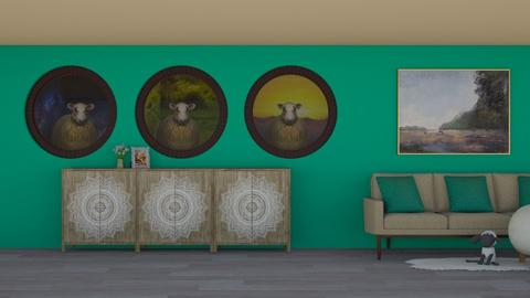 Sheepishly Friendly - Country - Living room - by BohoCHicc