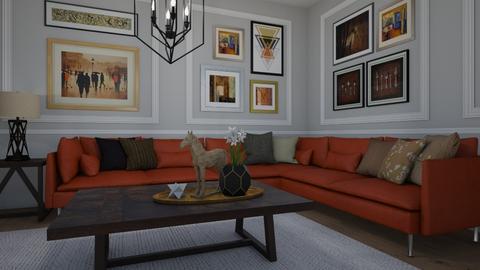 Featuring art - Living room - by Tuija