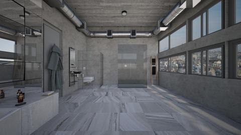 Paris loft Bathroom Vu 2 - Modern - Bathroom - by kitty