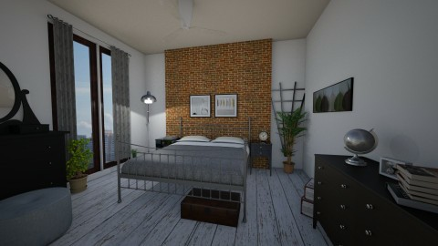 Brick - Bedroom - by Adriana10