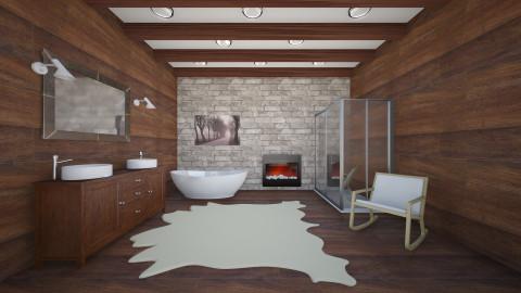 Chalet Bathroom - Rustic - Bathroom - by Remixraum