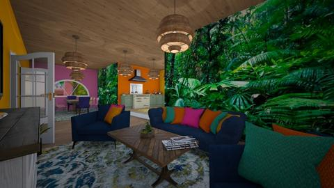 Tropical Lounge - Living room - by Nikki Lipstick