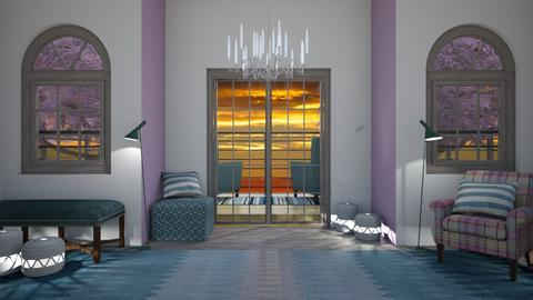 Pink and Teal - Modern - Living room - by millerfam