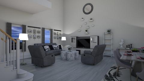 Grey Living - Living room - by Tzed Design