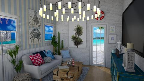 Beach House  - Living room - by Madalynng