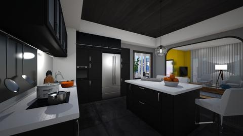 BlackNwhite - Kitchen - by yonvie