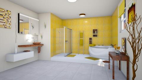 Yellow Bathroom - Bathroom - by Tzed Design