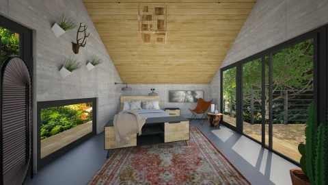 Bedroom in the Nature - Bedroom - by nelly_wreland