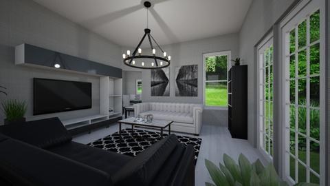 Black and White C - Modern - Living room - by Elisheva2