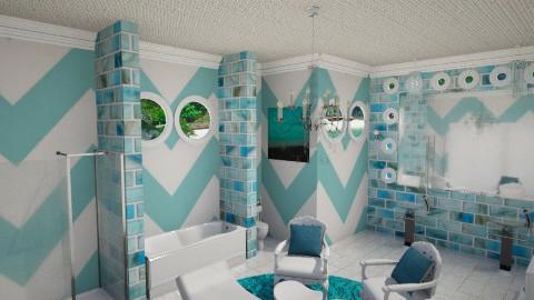 Tiffany Blue Bath - Modern - Bathroom - by DiamondJ569