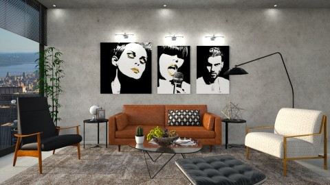 Concrete - Living room - by DeborahArmelin