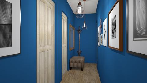 corridor in dark blue_1 - by nlify