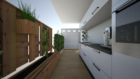 Common room 2 - Modern - Kitchen - by Tieko