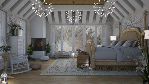 Design 398 Snowflakes - Bedroom - by Daisy320