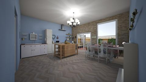 chic kitchen - Kitchen - by BoutiqueGal101