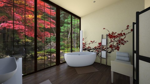 Japanese bathroom - Bathroom - by Melody06