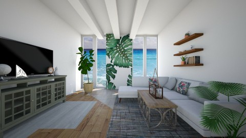 Tropical living - Living room - by muellerbri