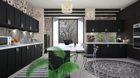 kitchen with bar2 - by Bren123
