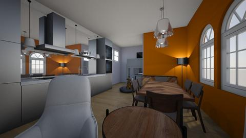 Living Area - Minimal - Kitchen - by bluebunny13
