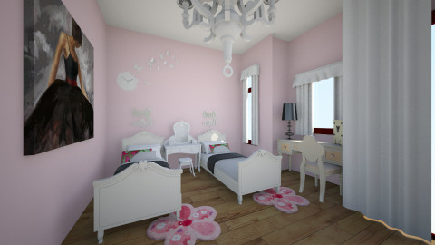 pavilion girls room - Kids room - by delfigoh