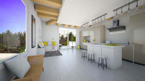 yellow on! - Kitchen - by Niv Cohen