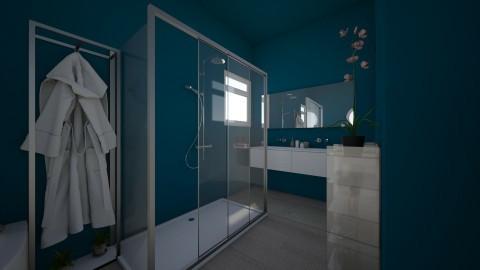 Salle de bain bleue - Modern - Bathroom - by melanie99