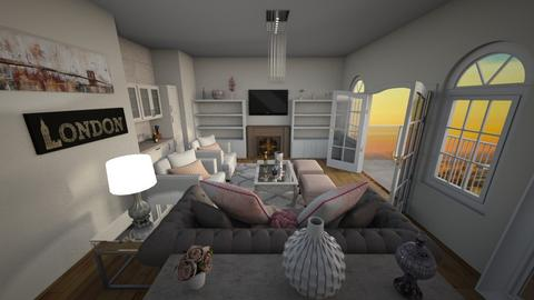 Jill_NewTraditional - Living room - by Anea Designs