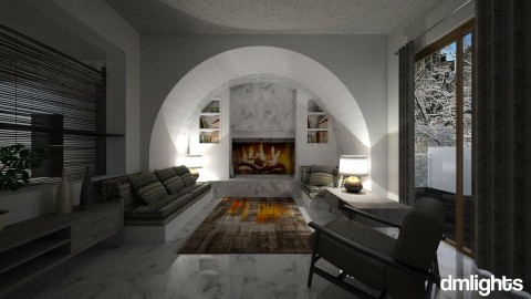 Fireplace - Living room - by DMLights-user-983290