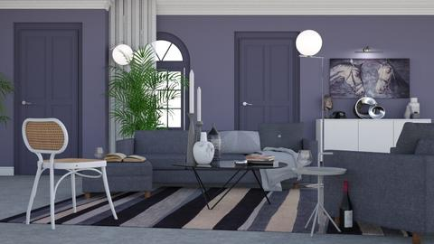Lavender and silver - Modern - Living room - by HenkRetro1960